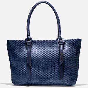Cole Haan Bethany Woven Navy Tote